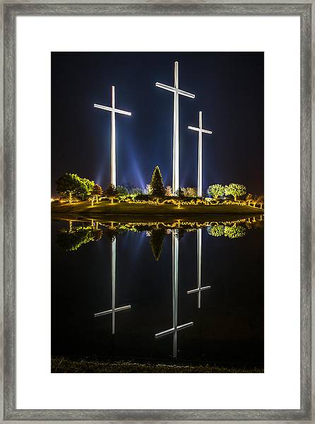Crosses In Reflection Framed Print
