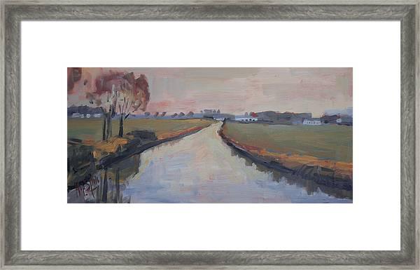 Crossing Hoofdwetering Vamerenweg Framed Print