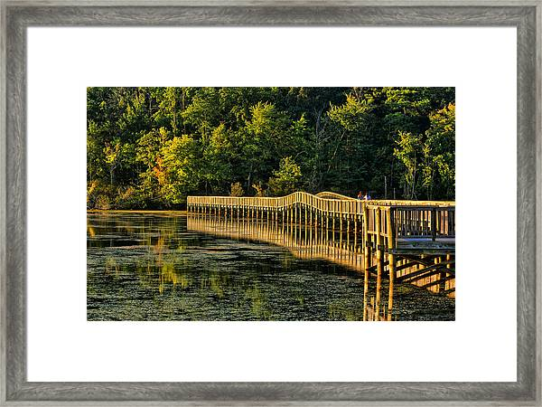 Crossing Into Autumn  Framed Print