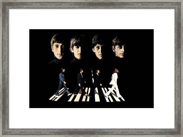 Crossing Into History The Beatles  Framed Print