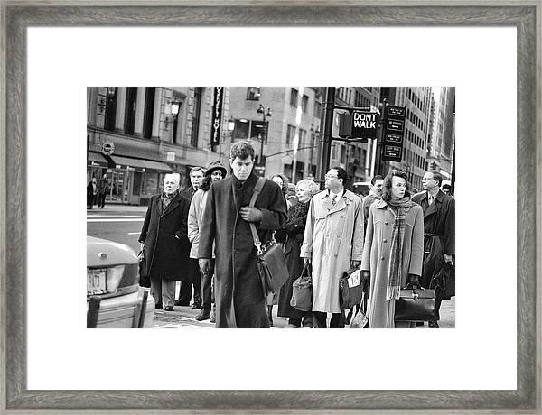 Crossing Manhattan Framed Print