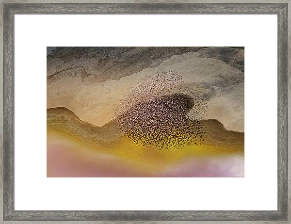 Crossing Natron Lake Framed Print