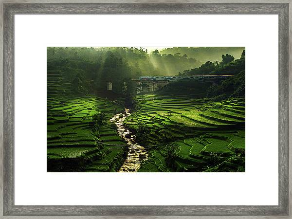 Crossing The Beautiful Bridge Framed Print