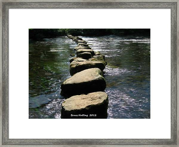 Crossing The Creek Framed Print