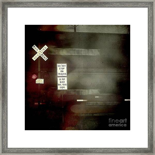 Crossing The End Framed Print