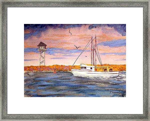 Crossing The Tillamook Bay Bar Framed Print