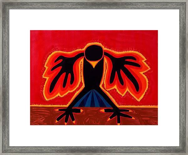 Crow Rising Original Painting Framed Print