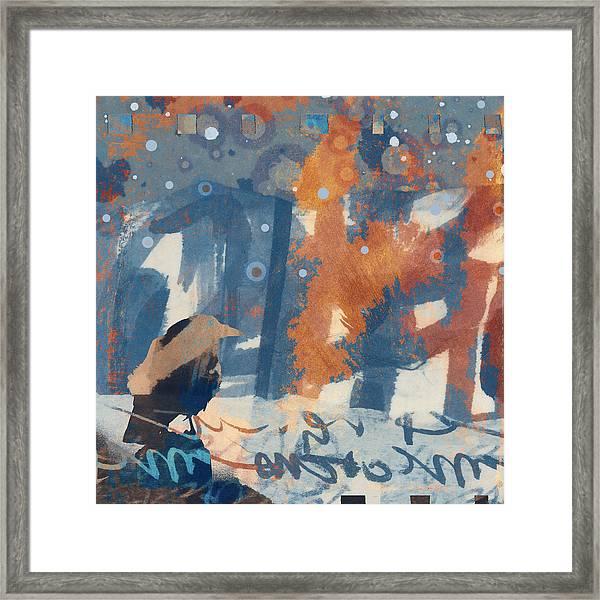 Crow Snow Framed Print