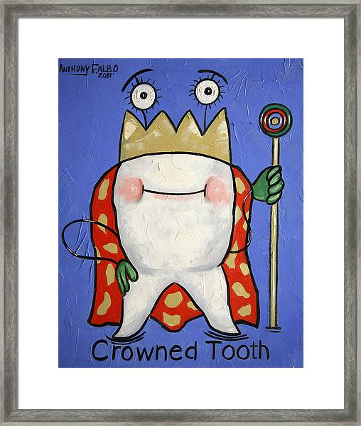 Crowned Tooth Framed Print