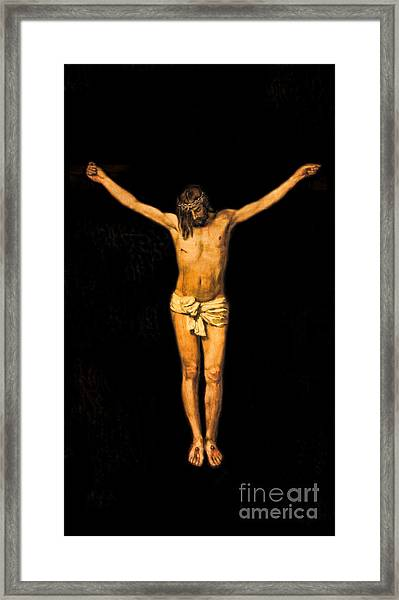 Crucifixion Of Jesus Christ Framed Print by Lee Dos Santos