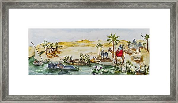 Cruising Along The Nile Framed Print