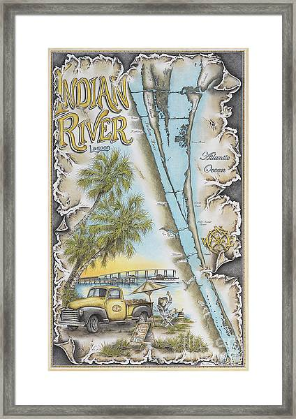Cruising The Indian River Framed Print by Mike Williams