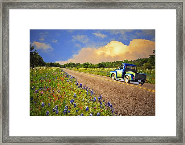 Crusin' The Hill Country In Spring Framed Print