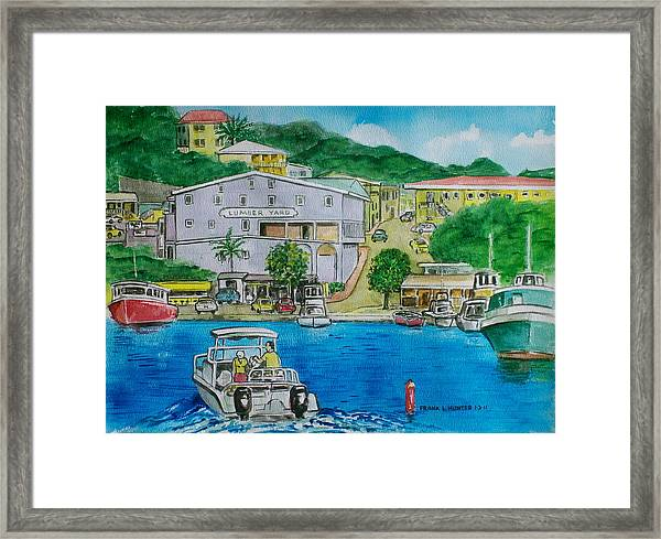Cruz Bay St. Johns Virgin Islands Framed Print