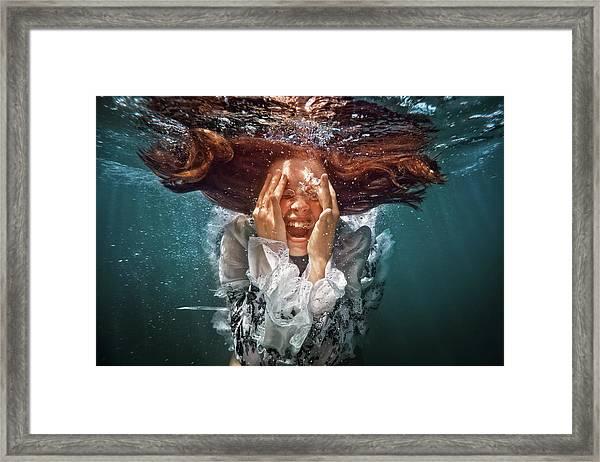 Cry Framed Print