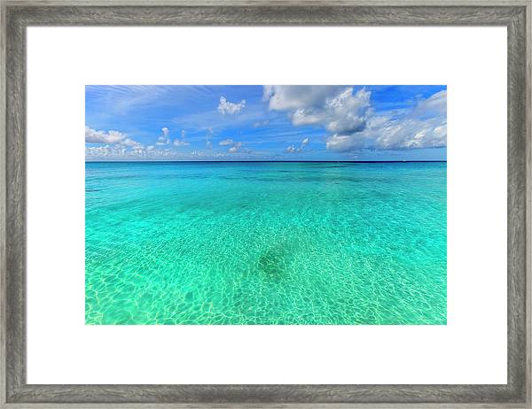 Crystal Clear Water Of Barbados Framed Print