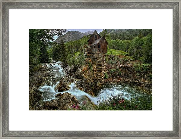 Crystal Mill Riverside Framed Print