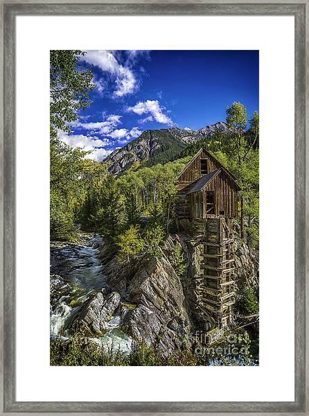 Crystal Mill Framed Print