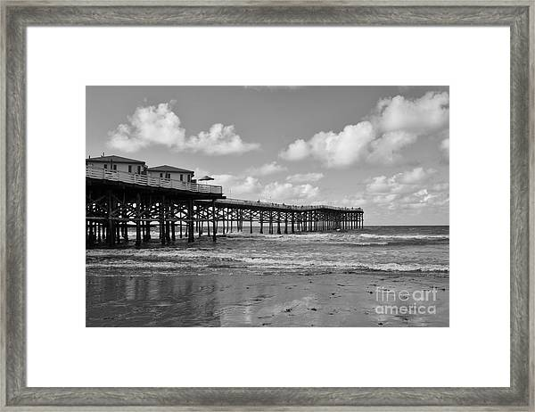 Crystal Pier In Pacific Beach Framed Print