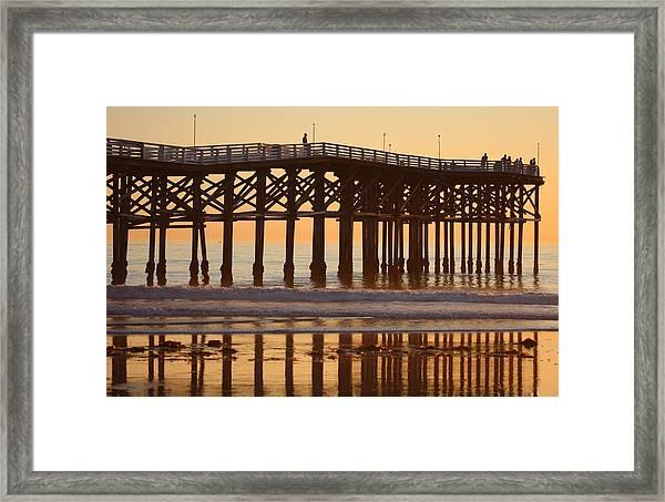 Crystal Pier Framed Print