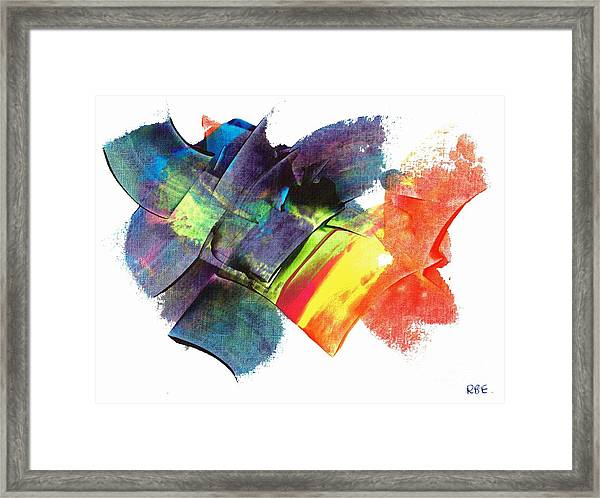 Crystaline Rainbows Framed Print