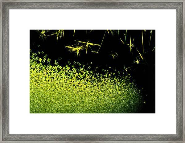 Crystals Of Antibiotic Tetracycline Framed Print by David Parker