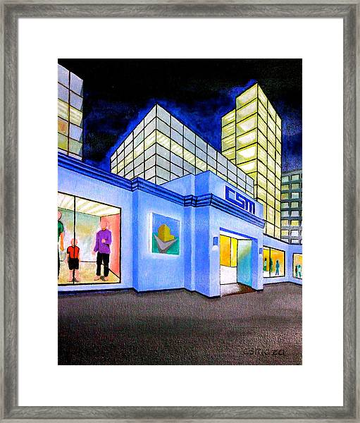 Csm Mall Framed Print