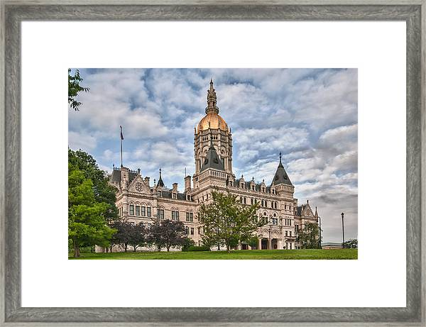 Ct State Capitol Building Framed Print