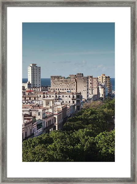 Cuba, Havana, Havana Vieja, Buildings Framed Print by Walter Bibikow