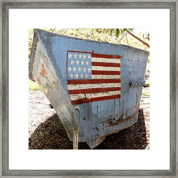 Framed Print featuring the photograph Cuban Refugee Boat 4 by Bob Slitzan