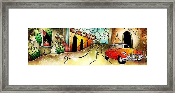 Que Rico Cuban Street Framed Print