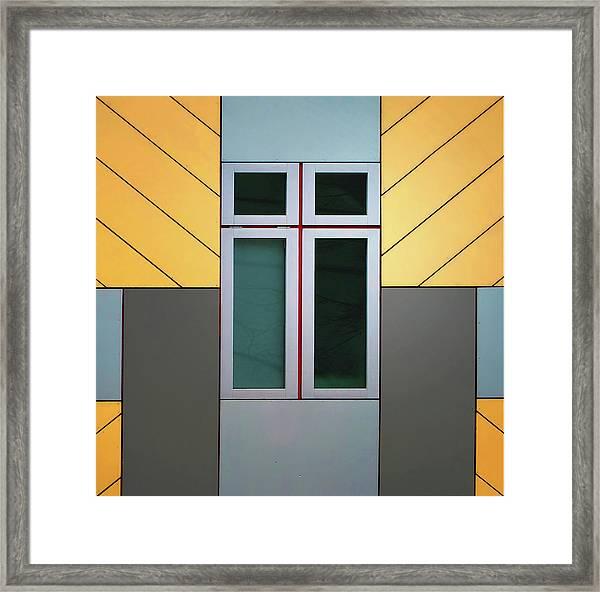 Cube House Framed Print