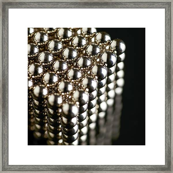 Cube Of Neodymium Magnets Framed Print by Science Photo Library
