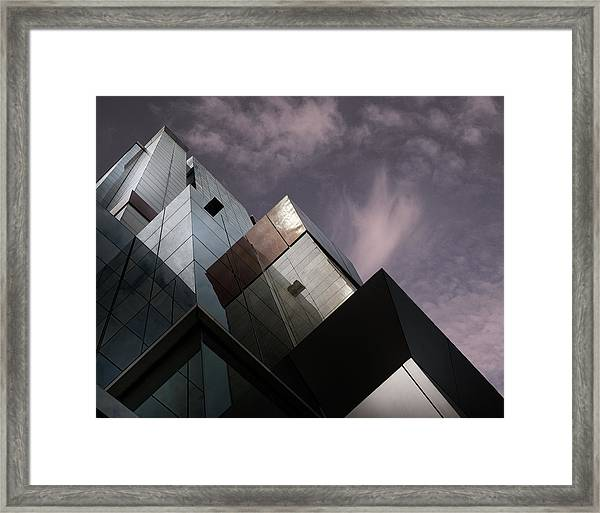 Cubic Reflection. Framed Print by Harry Verschelden