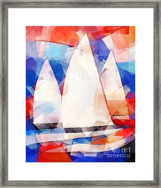Cubic Sails Framed Print