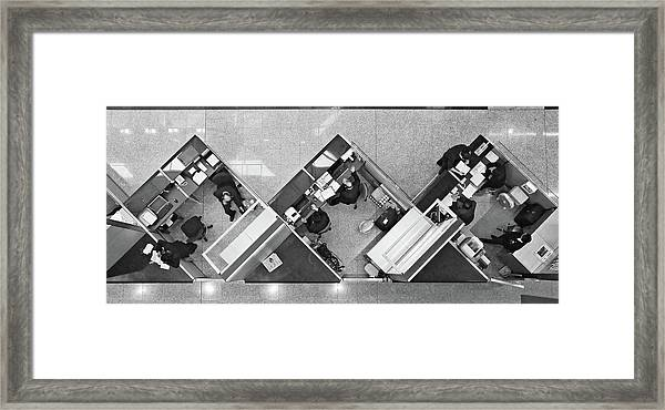 Cubicle Life Framed Print
