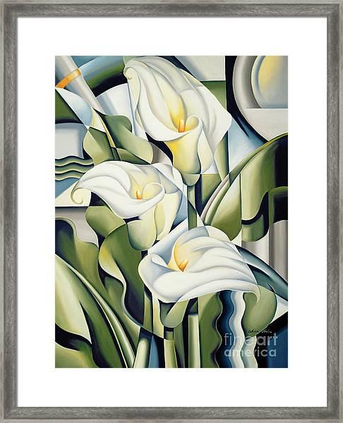 Cubist Lilies Framed Print