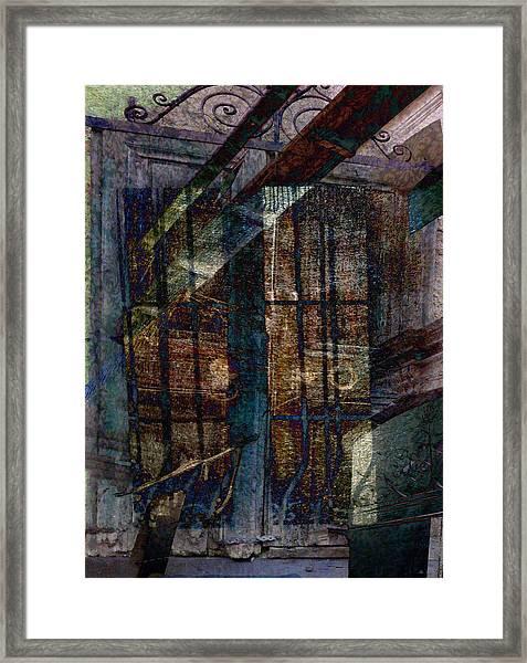 Cubist Shutters Doors And Windows Framed Print