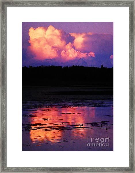 Cumulous Squared Framed Print