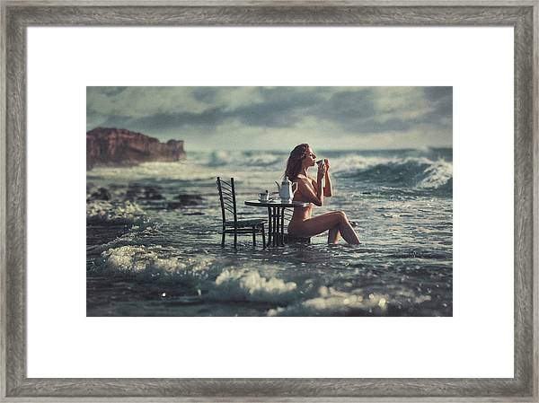 Cup Of Tea Framed Print by Evgeny Loza