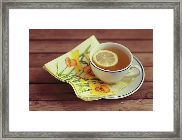 Cup Of Tea With Lemon Framed Print
