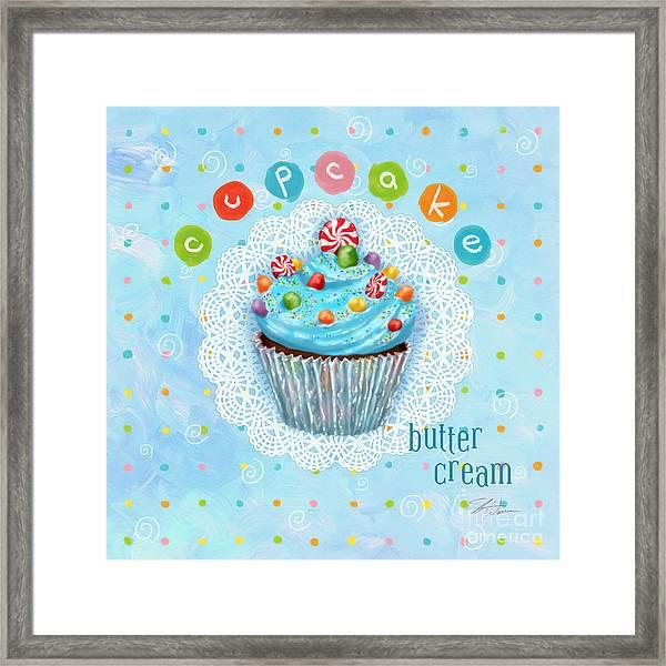 Cupcake-butter Cream Framed Print