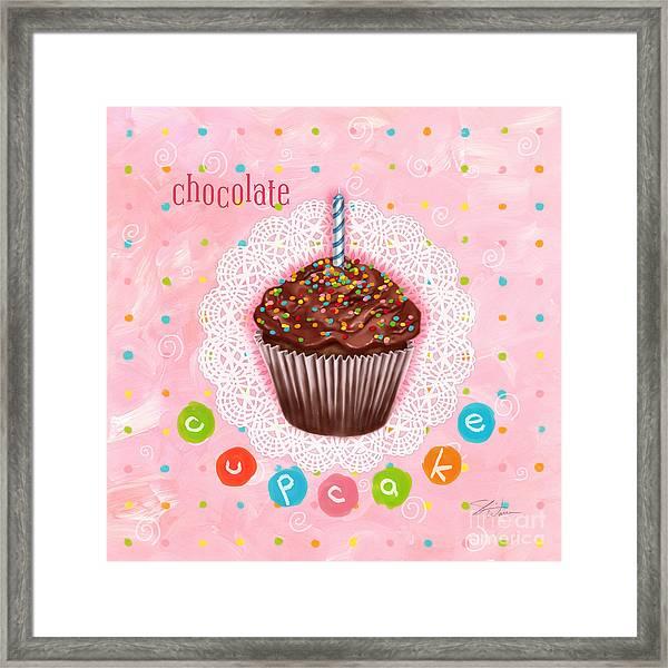 Cupcake-chocolate Framed Print