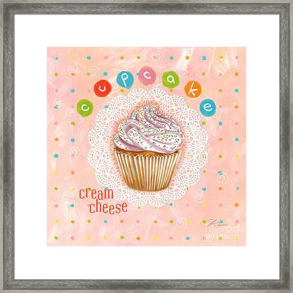 Cupcake-cream Cheese Framed Print