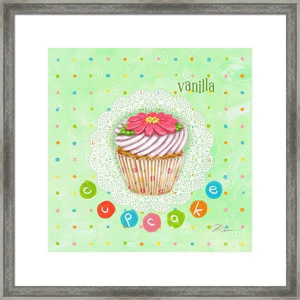 Cupcake-vanilla Framed Print