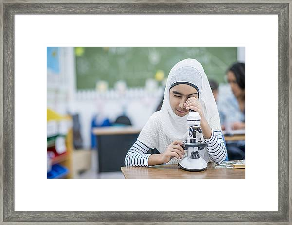 Curious Student Framed Print by FatCamera
