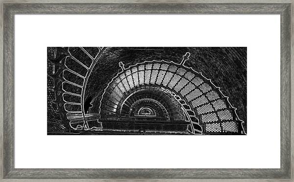Currituck Lighthouse Stairs Framed Print