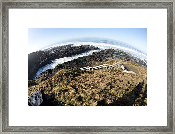 Curve Of The Earth Framed Print by Margaret Pitcher