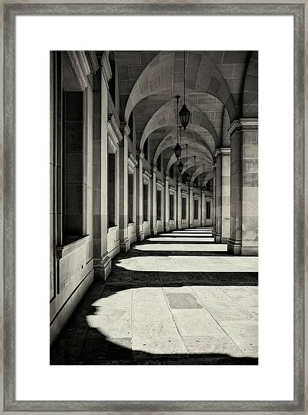 Curved Corridor Framed Print by Louise Wolbers
