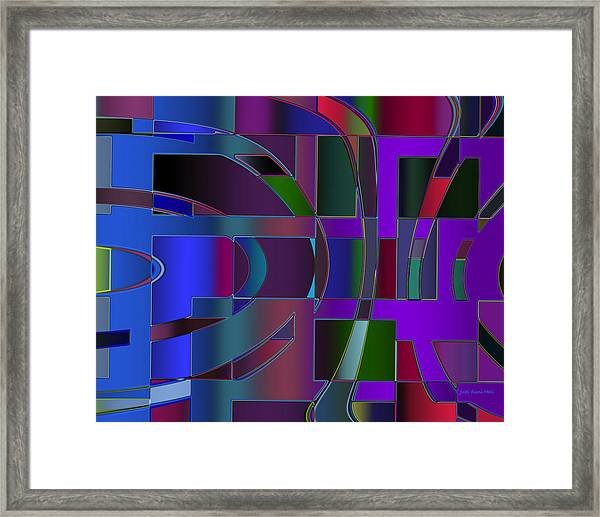 Curves And Trapezoids 2 Framed Print
